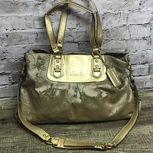 Coach horse carriage Ashley anniversary carryall